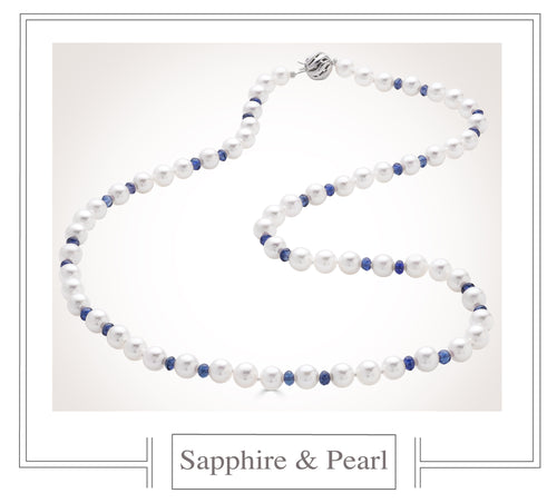 Raymond C. Yard, Pearl and Sapphire Necklace