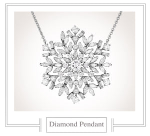 Raymond C. Yard, Snowflake, Diamonds, Platinum, Necklace and Pendant