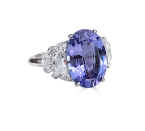 Raymond C. Yard, Tanzanite, Diamond, Platinum Ring