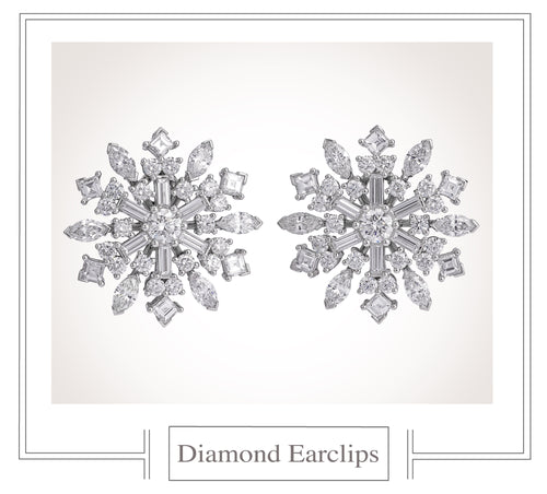 Raymond C. Yard, Snowflakes, Diamonds, Platinum, Earclips