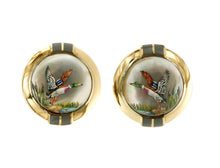 Load image into Gallery viewer, Raymond C. Yard, Crystal, 18K Gold, Mallard Cufflinks