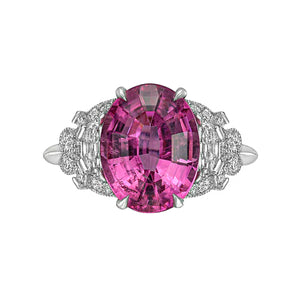 Raymond C. Yard, Pink Tourmaline and Diamond, Platinum Ring