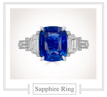 Load image into Gallery viewer, Raymond C. Yard, Sapphire and Diamond Ring
