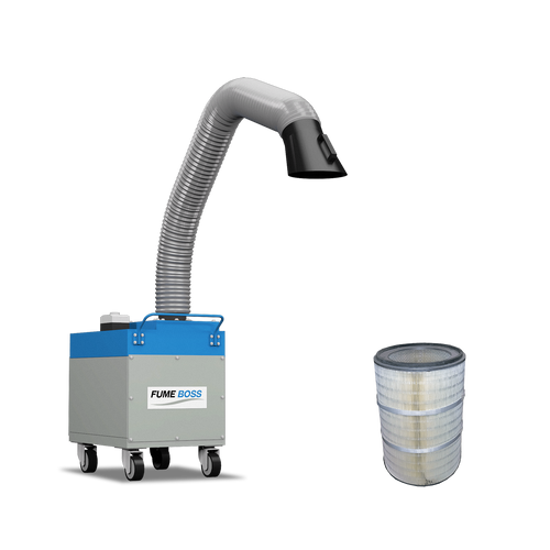 Fume Boss 800 Portable Fume Extractor + 1 Nanofiber Replacement Cartridge Filter