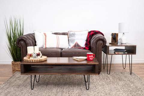 Brown coffee table