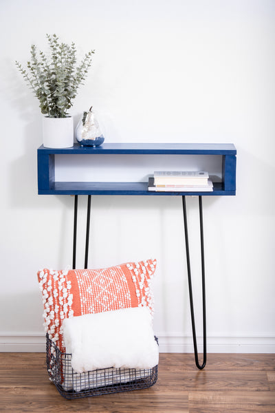 Blue entryway table/console table