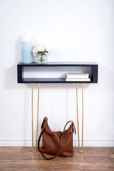 Navy, dark blue entryway table/console table
