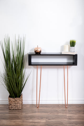 Black entryway table/console table