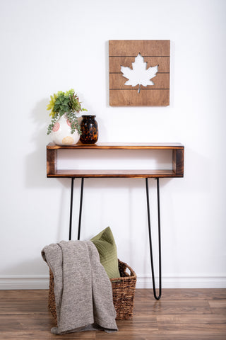 Torched entryway table/console table
