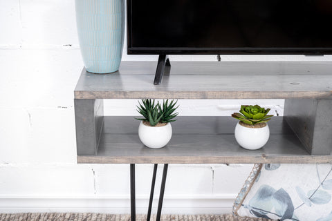 Grey tv stand/tv table