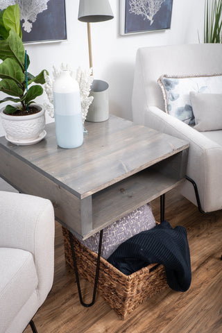 Grey End table/Side table