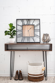 Brown entryway table/console table