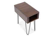 Brown, dark walnut end table/side table