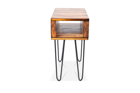Torched end table/side table