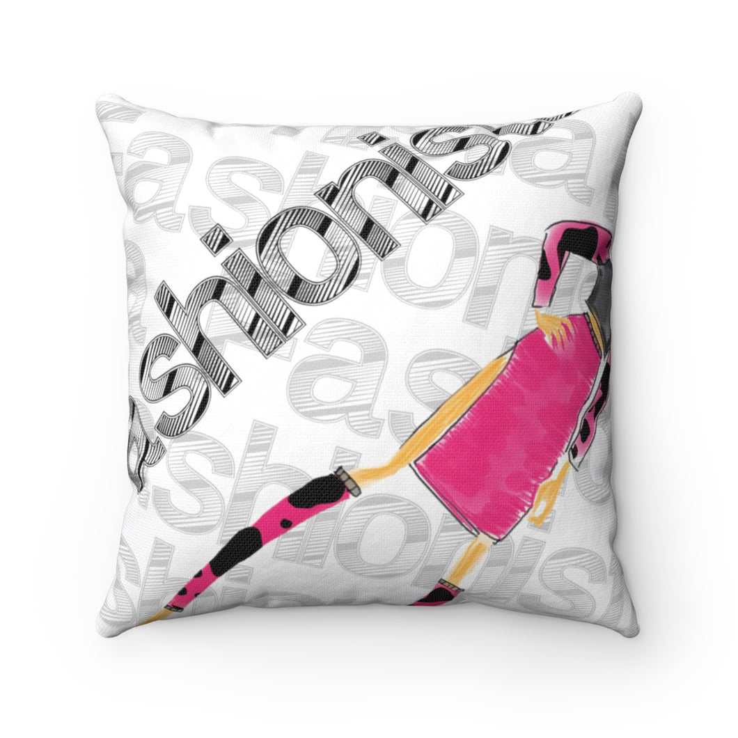 Spun Polyester Square Pillow fashionista