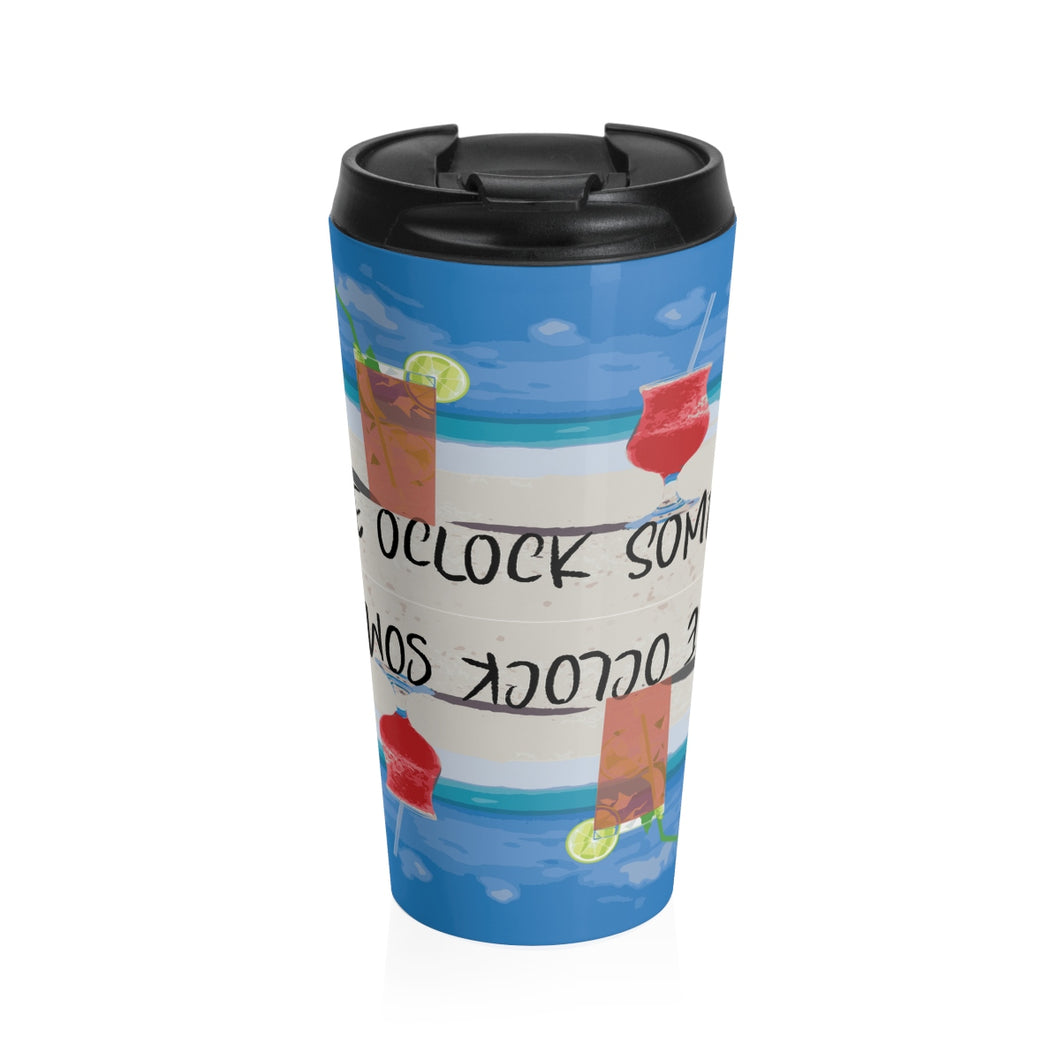 Stainless Steel Travel Mug FIVE OCLOCK