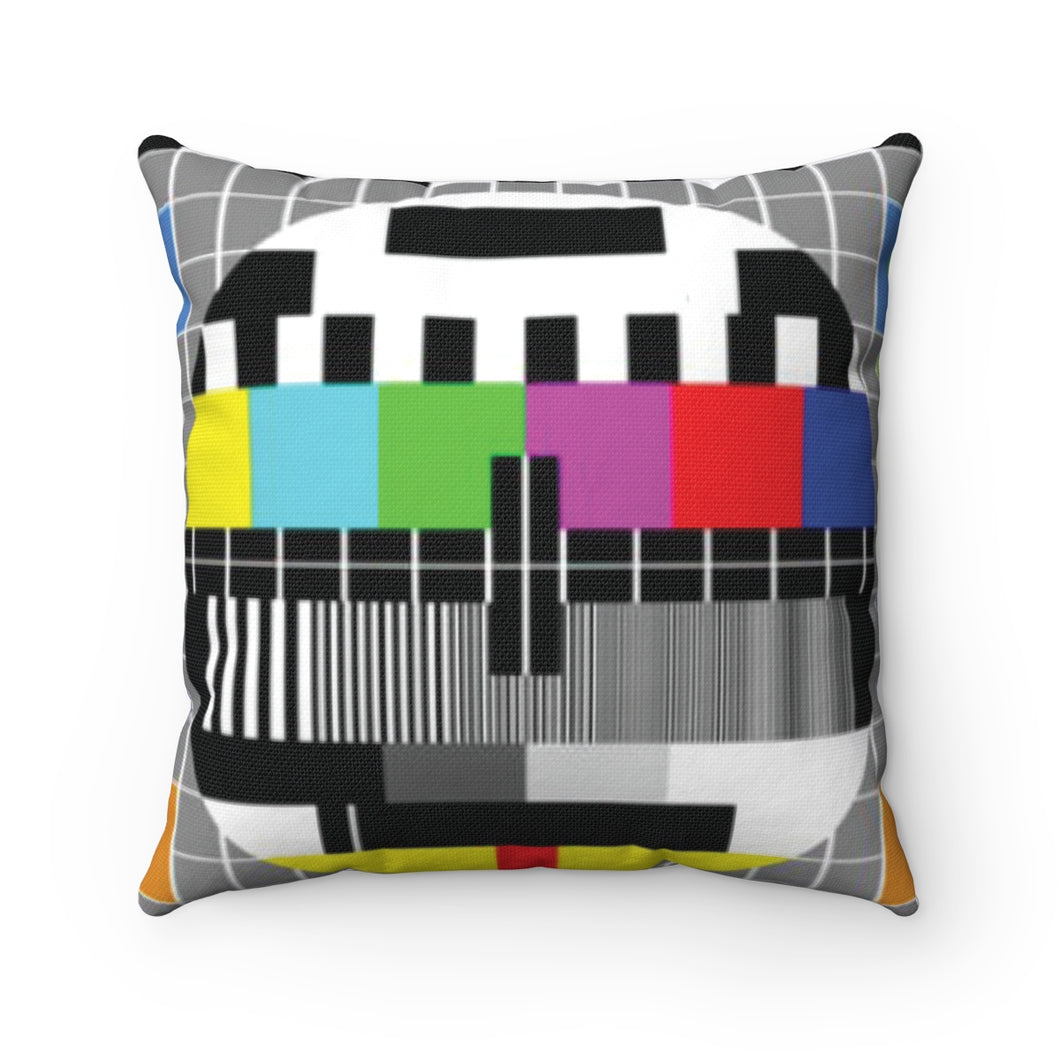 Spun Polyester Square Pillow NO SIGNAL