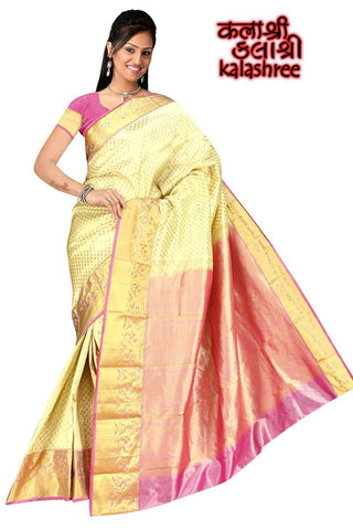 Cream Kanchi with Full Zari work