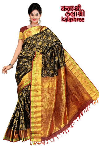 Black Kanchi with Full Zari brocade work