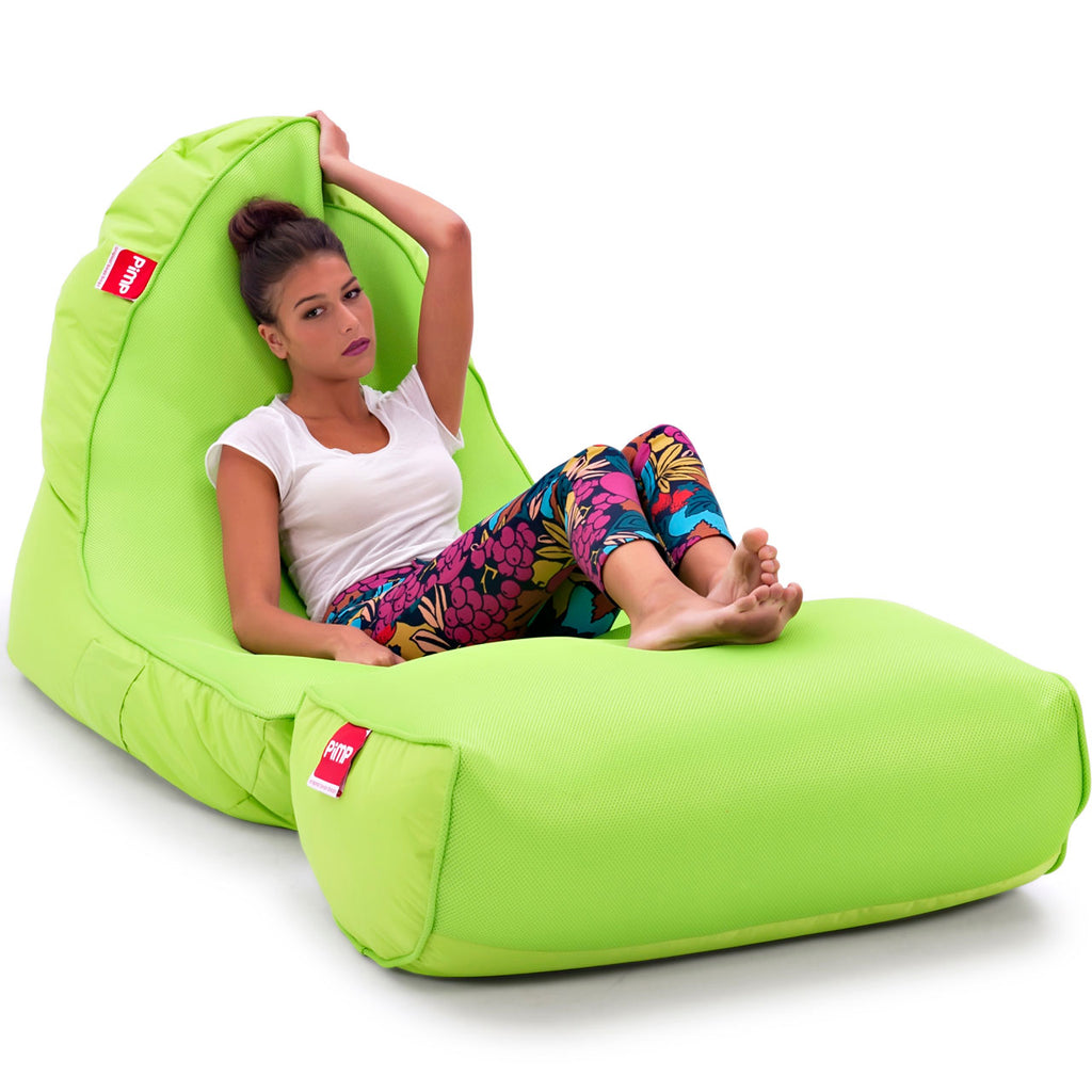 VIP Bean Bag Sofa + Ottoman Set (Coolio Wild Lime)