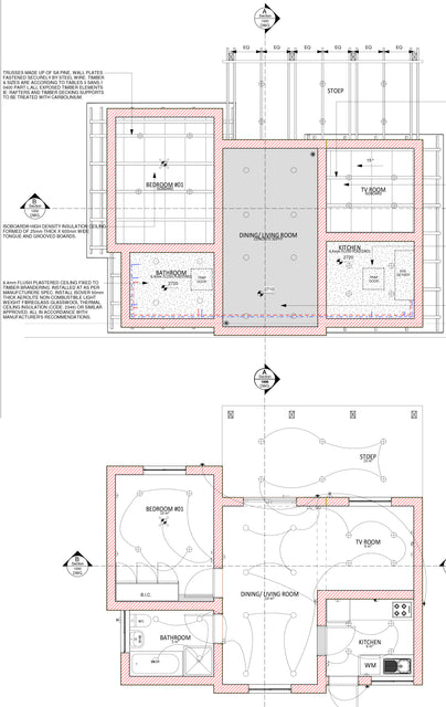 Pre-Drawn building plans option 3 and 4