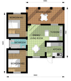 Two Bedroom Unit (AS-04A) 75m² Modern Contemporary