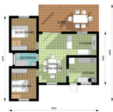 Two Bedroom Unit (AS-05C) 70m² Contemporary Tuscan