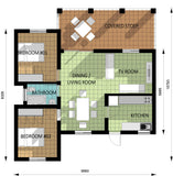 Two Bedroom Unit (AS-06F) 90m² Modern