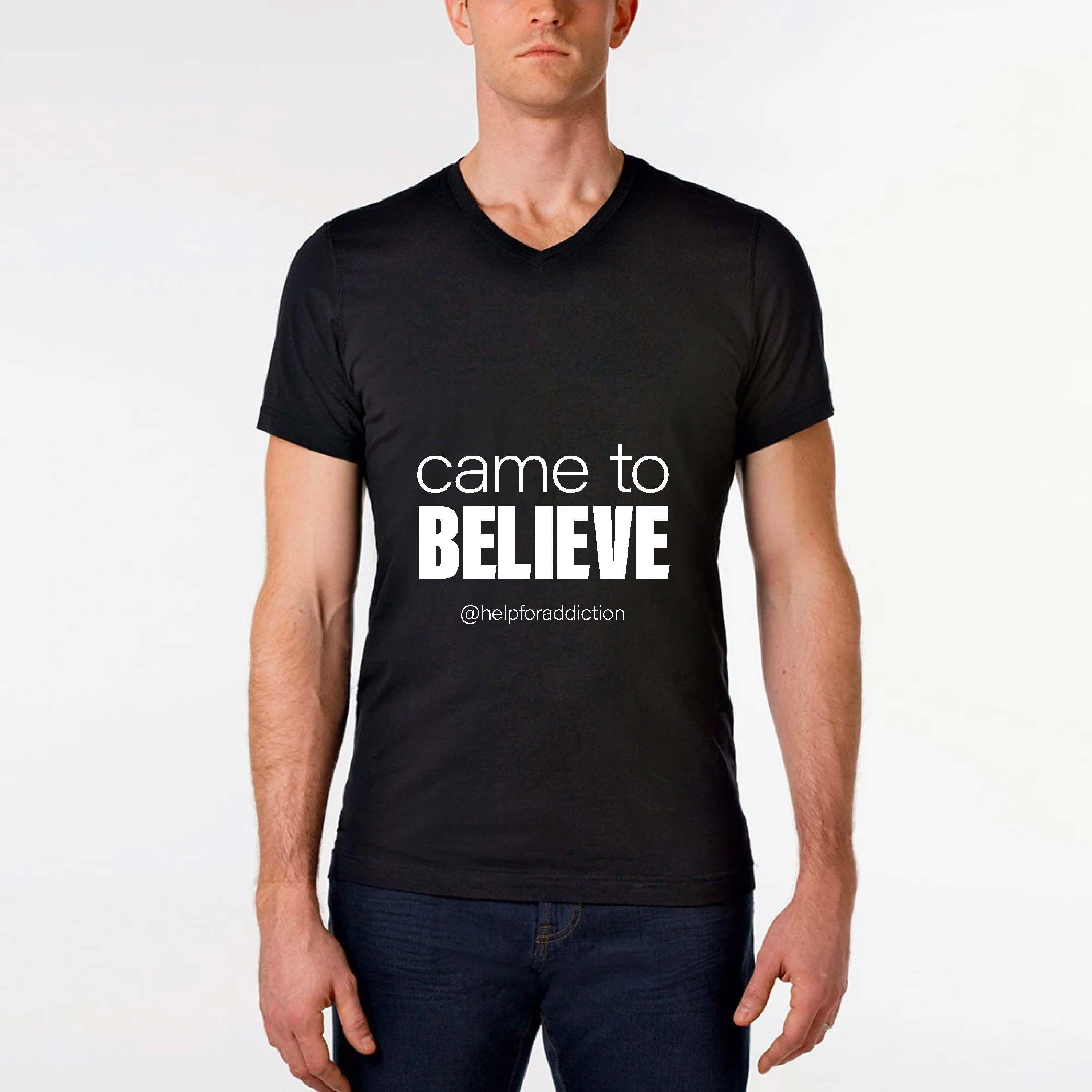 "Client: South Florida Intervention | Shirt design with ""came to believe"" @helpforaddiction"
