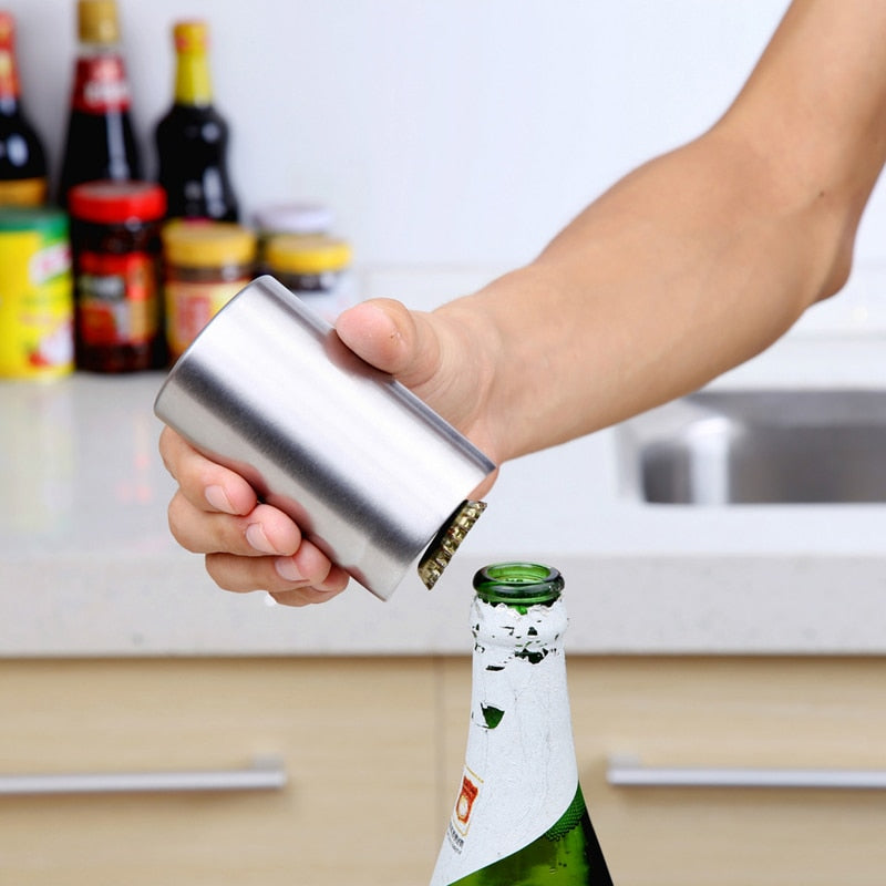 Stainless Steel Magnetic Automatic Bottle Opener