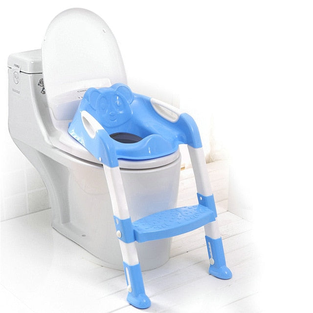 Potty Seat - Toddler Toilet Seat With Handles and Step