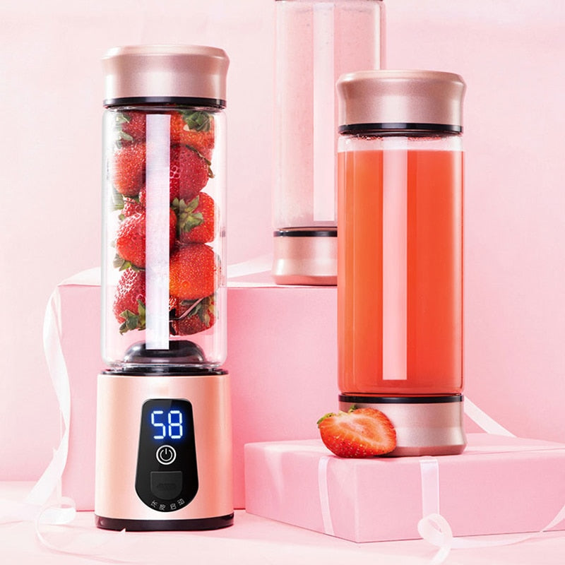 Premium Portable Electric Juicer Blender - USB Rechargeable