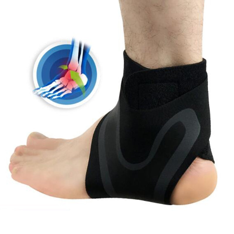 Ankle Support Brace With Adjustable Stabilizer Straps All Size (L-M-S-XL)