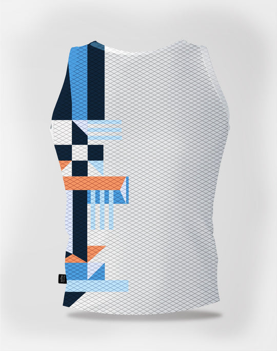Base Layer Geometric Blue Man