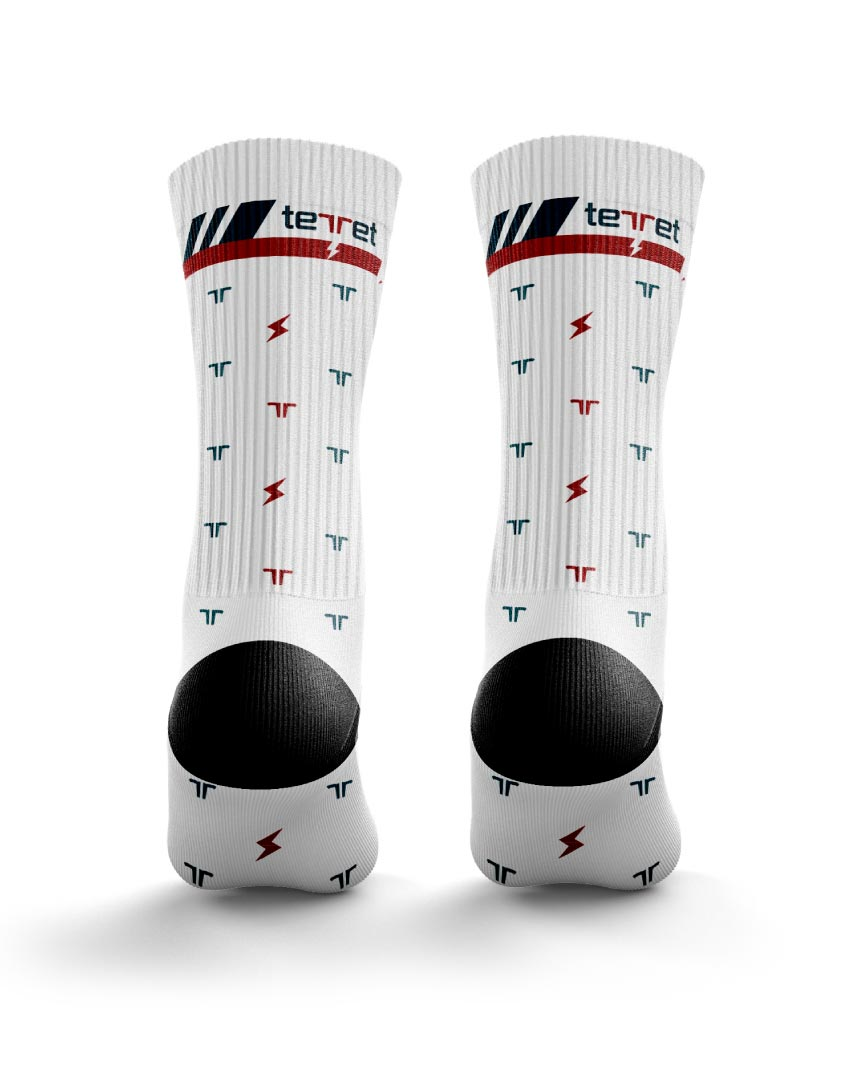 Mini Print White Street Socks