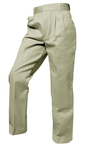 Pant - Boy HUSKY Pleated or Flat Front PANT - Khaki or Black Pant with Adjustable Waist- Boys Husky