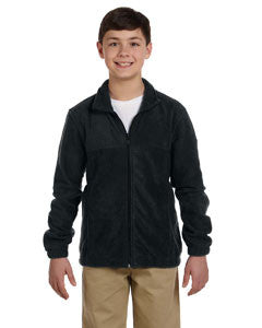 Jacket - Harriton Youth 8 oz. Full-Zip Fleece w/ Crest Logo M990Y