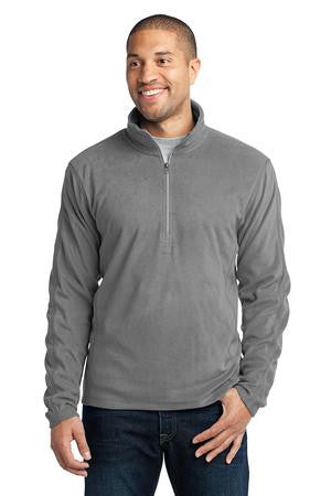 Pullover - BAND Jacket - Port & Authority Micofleece 1/4 zip Pullover with Band Emd. Logo