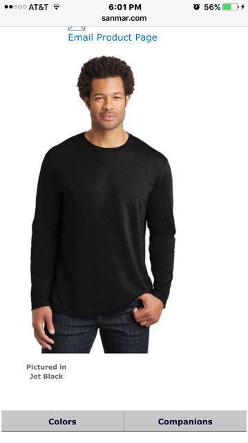 T-Shirt - District Made Unisex Perfect Weight Long Sleeve Tee (Go to logo choices to add logo)