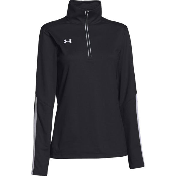 Pullover - Under Armour - 1/4 Ladies Pullover Black/white with Logo
