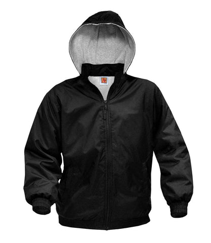 Jacket - Nylon Hooded Jacket with Logo
