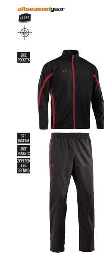 UNDER ARMOUR Youth Essential Pant Black/White Zipper w/Logo 1259601(matching jacket available separately)