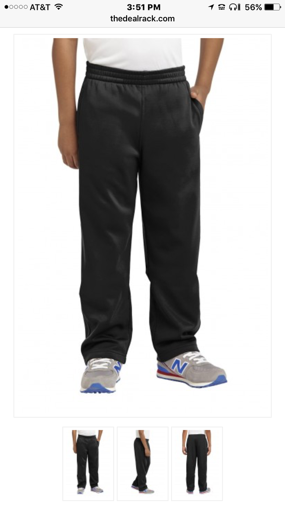 efdddd6462 Sport Tek Youth Tricot Warm Up Black Pant with OCA Logo YPST91/YST237