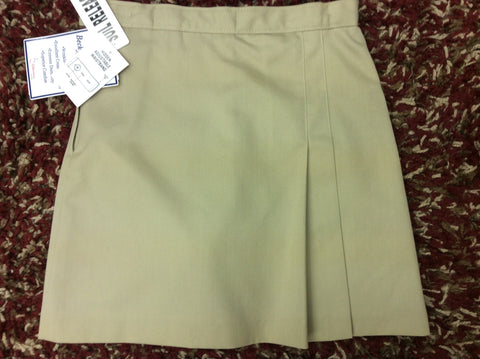 Skort - Khaki or Black Double Pleated Skort 3923