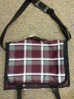 Plaid 91 Messenger Bag/Satchel Backpack