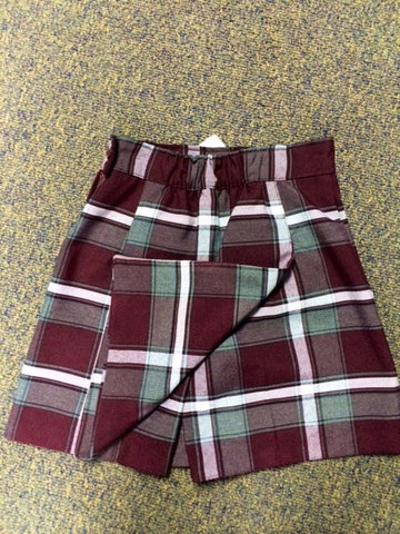 Plaid 91 Front/Back Flap SKORT