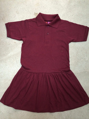 Dress - Jersey Dress  Maroon or Grey with Crest Logo