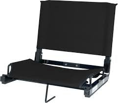 Stadium Seat in Black w/Eagle Logo on Back