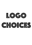 LOGO CHOICES - CLICK THE DROP DOWN MENU FOR LIST OF LOGOS, PICTURES WILL SHOW UP IN VIEWING BOX
