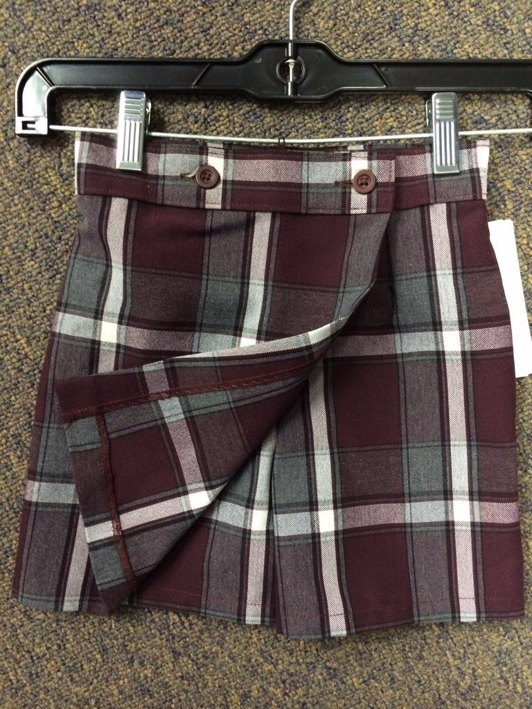 Plaid 91 Front/Flap - Back/Short Skort - Girl Half Sizes